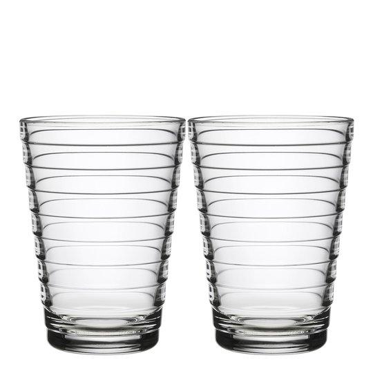 Iittala - Aino Aalto Glas 33 cl 2-pack Klar