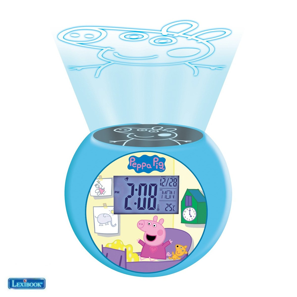 Lexibook - Peppa Pig Projector Radio Alarm Clock (RL975PP)