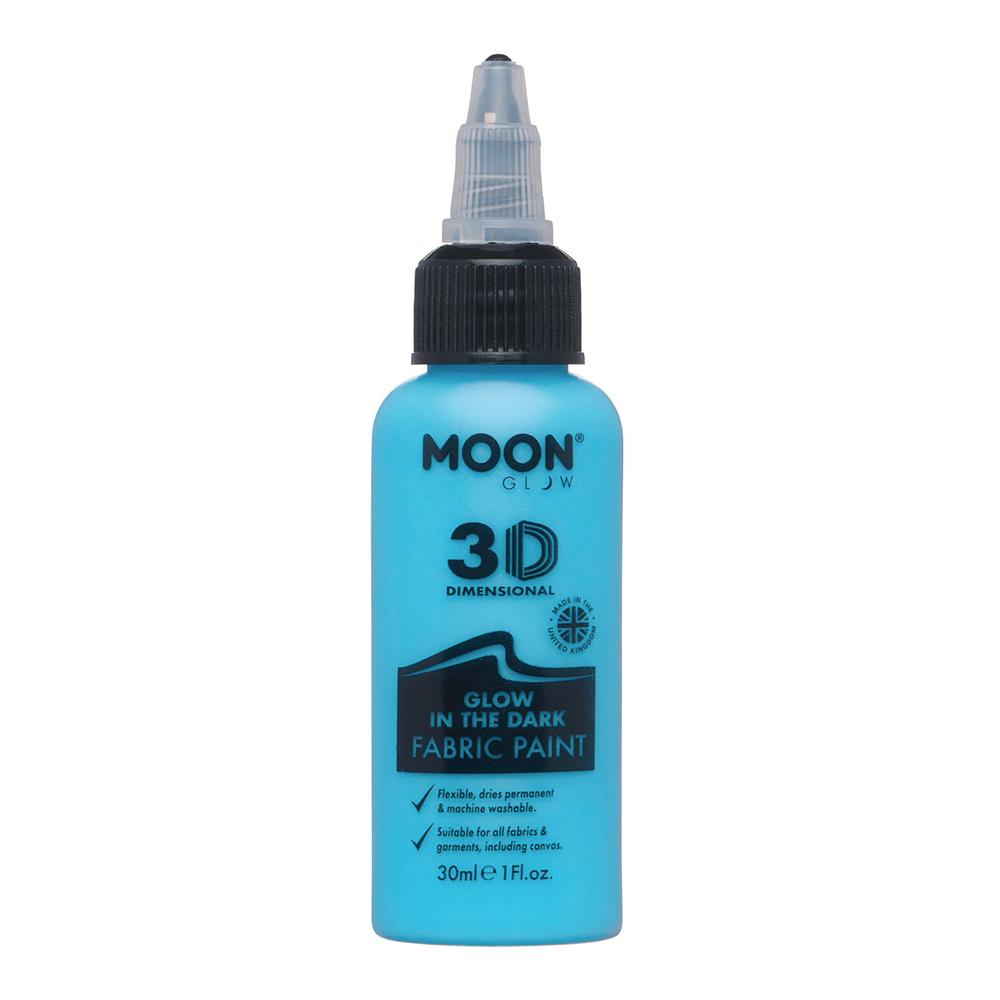 Moon Creations Självlysande Textilfärg - Blå