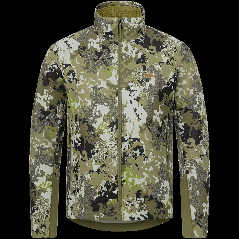 Blaser Flash Jacket S Camo Allsidig og værbestandig mellomlagsjakke
