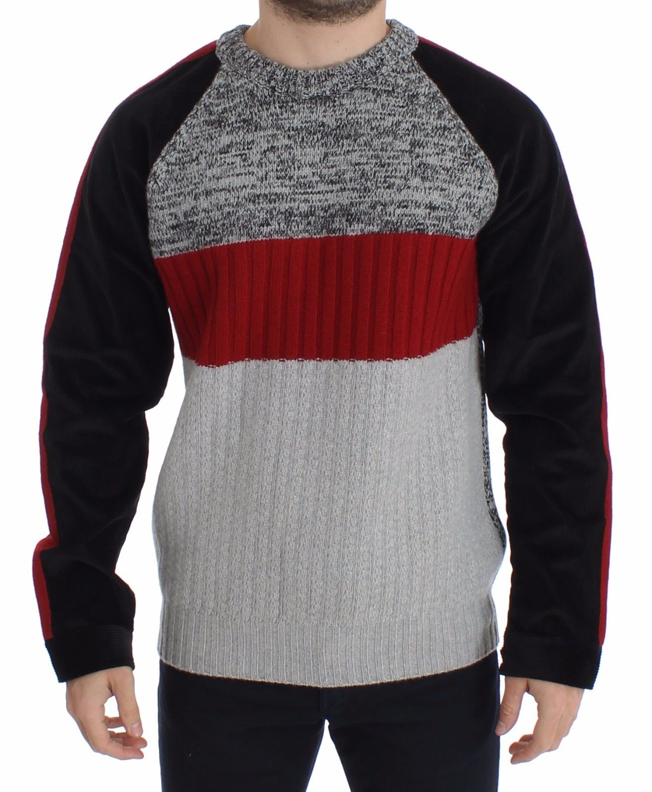 Dolce & Gabbana Men's Knitted Wool Cashmere Crewneck Sweater Pullover Multicolor SIG14010 - IT44 | XS