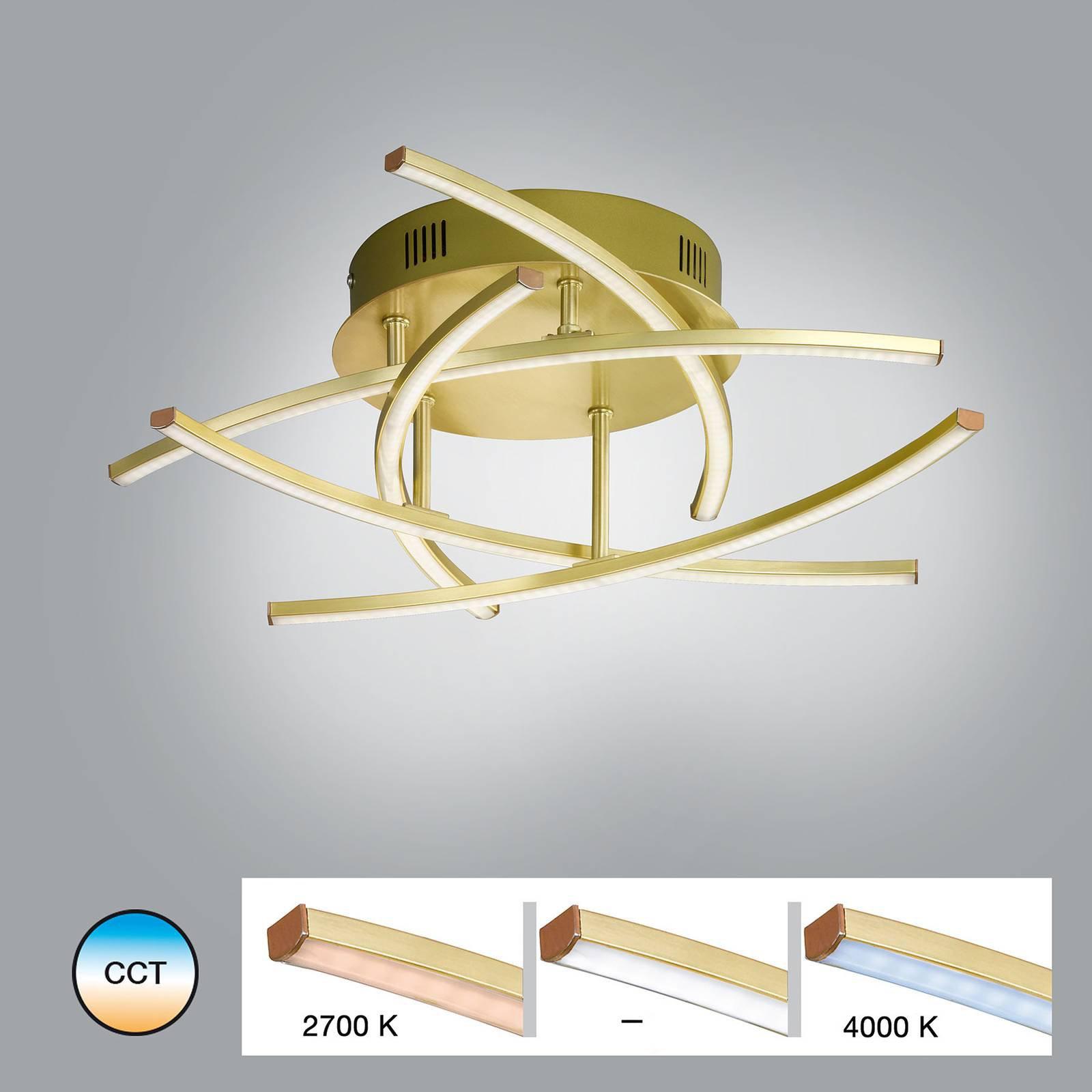 LED-taklampe Cross Tunable, hvit, 5 lyskilder
