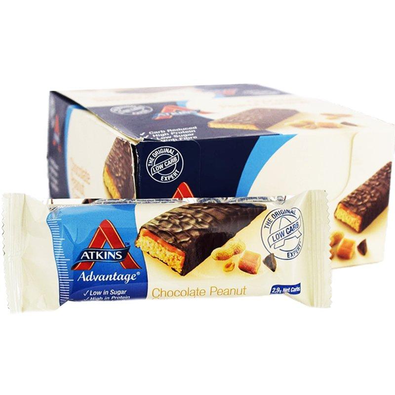 """Laatikollinen ateriapatukoita """"Choco, Peanut & Caramel"""" 16 x 60 g - 58% alennus"""