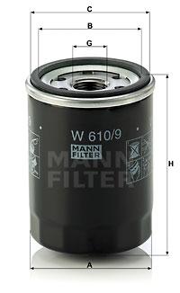 Öljynsuodatin MANN-FILTER W 610/9