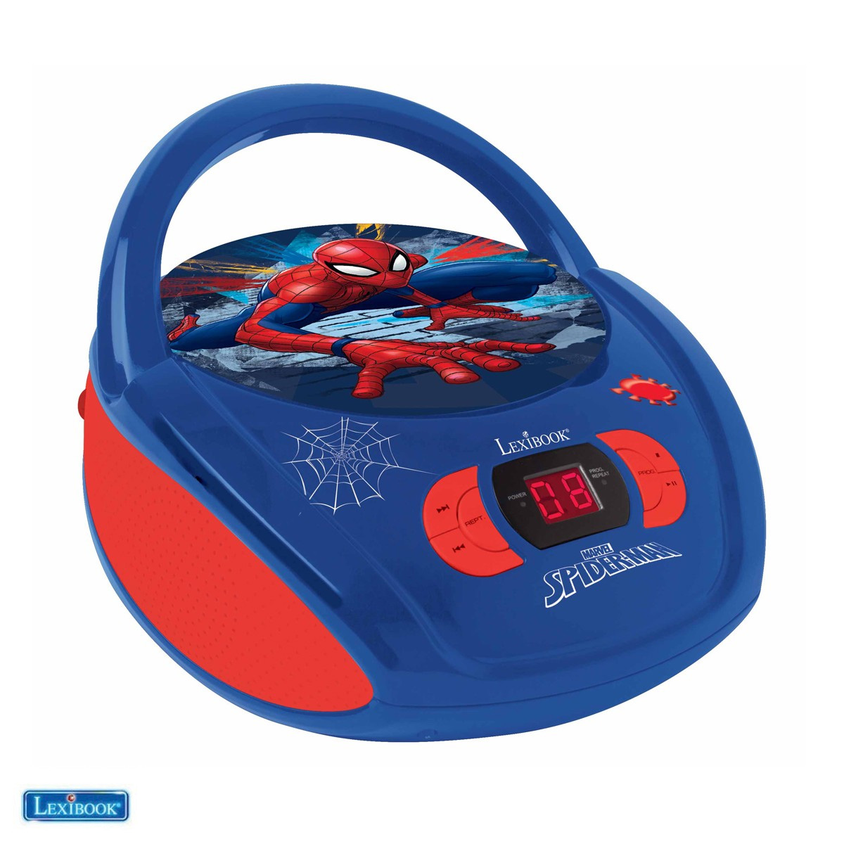 Lexibook - SpiderMan Portable CD player with Mic Jack (RCD108SP)