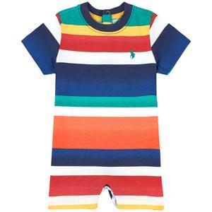 Ralph Lauren Multi Stripe Logo Romper Blå 3 mån