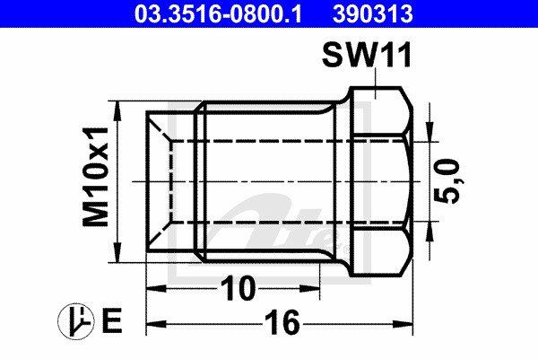Liitosruuvi ATE 03.3516-0800.1