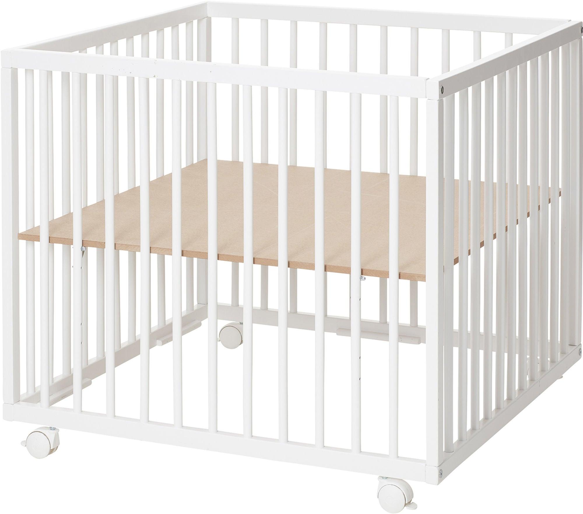 BabyDan Leikkikehä Comfort 80x80x73 cm, Valkoinen