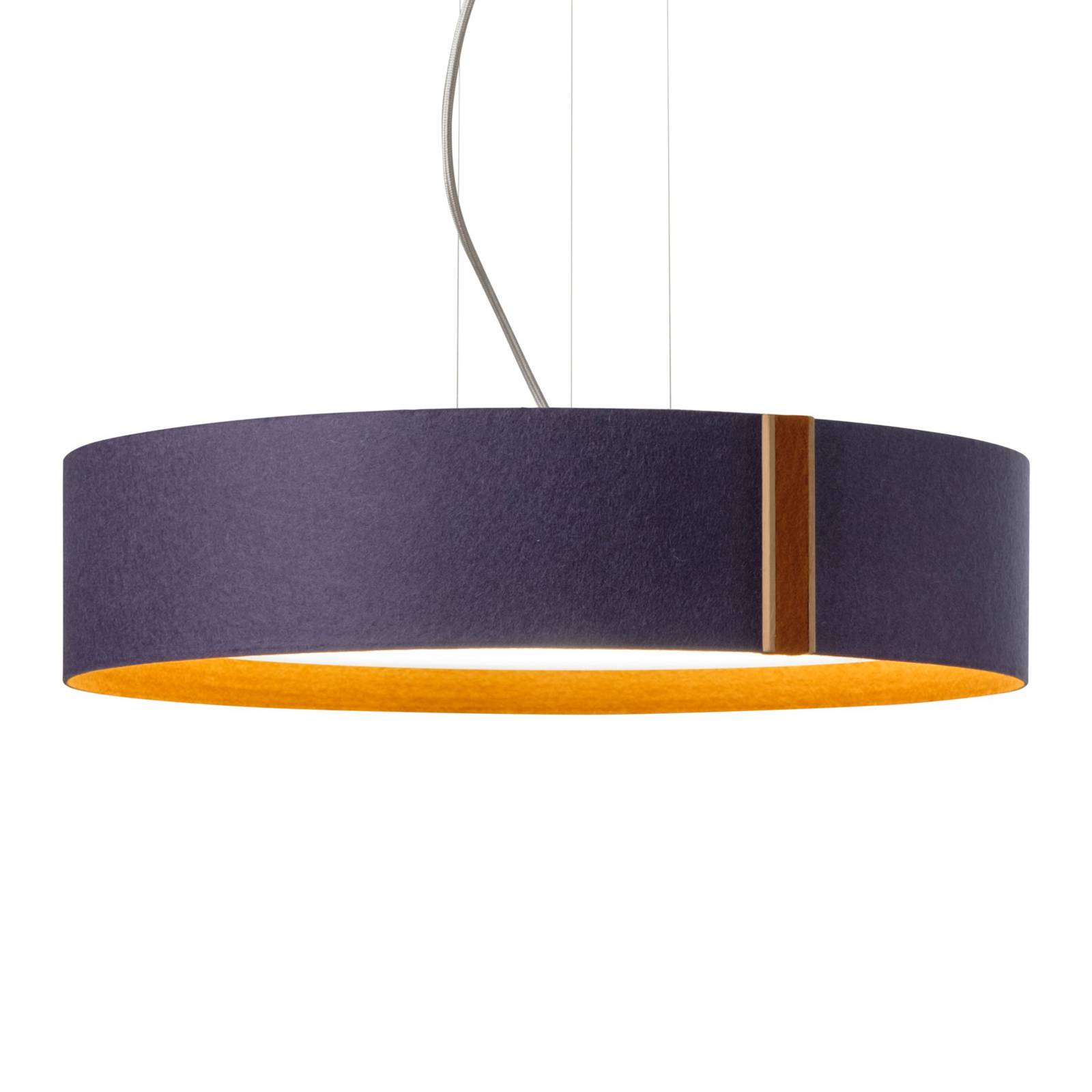 LED-riippuvalaisin LARAfelt, Ø 55cm, indigo/kaneli
