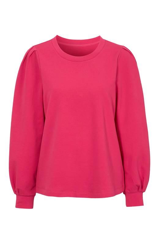 Cellbes Sweatshirt med puffärm Cerise