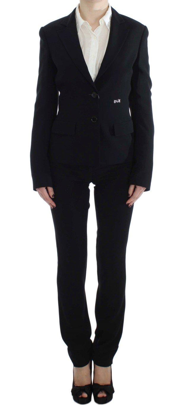 Exte Women's Two Button Suit Black SIG30907 - IT48|XXL