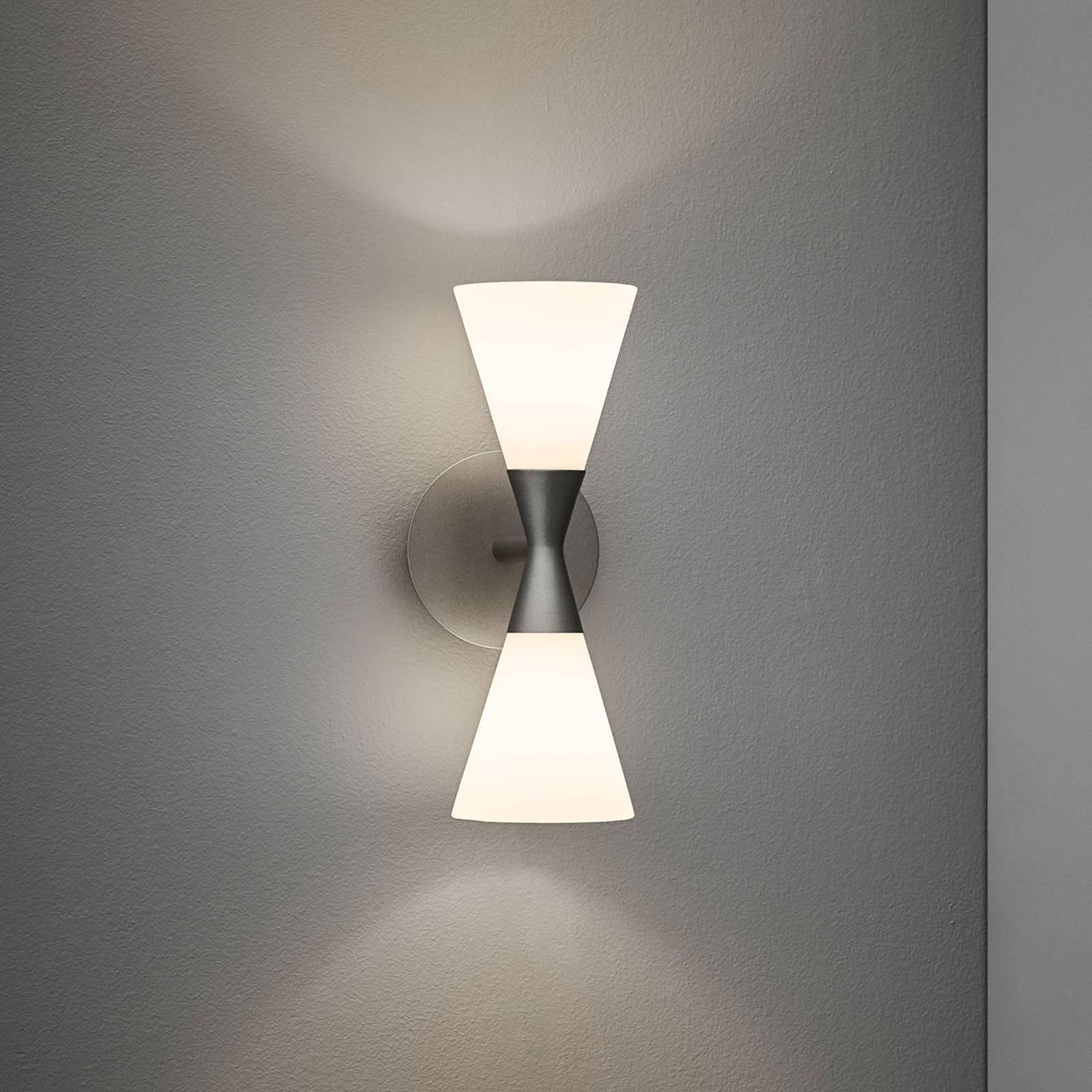 Vegglampe Harlekin med plugg, grafittgrå
