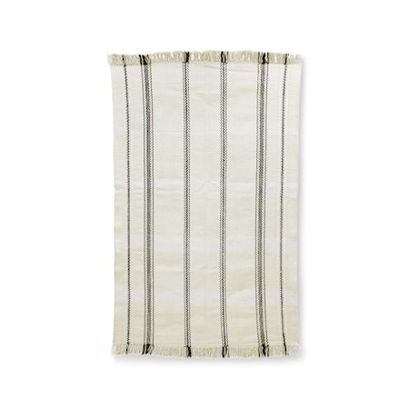 Handvävd Matta Black/White stripes 150x240 cm