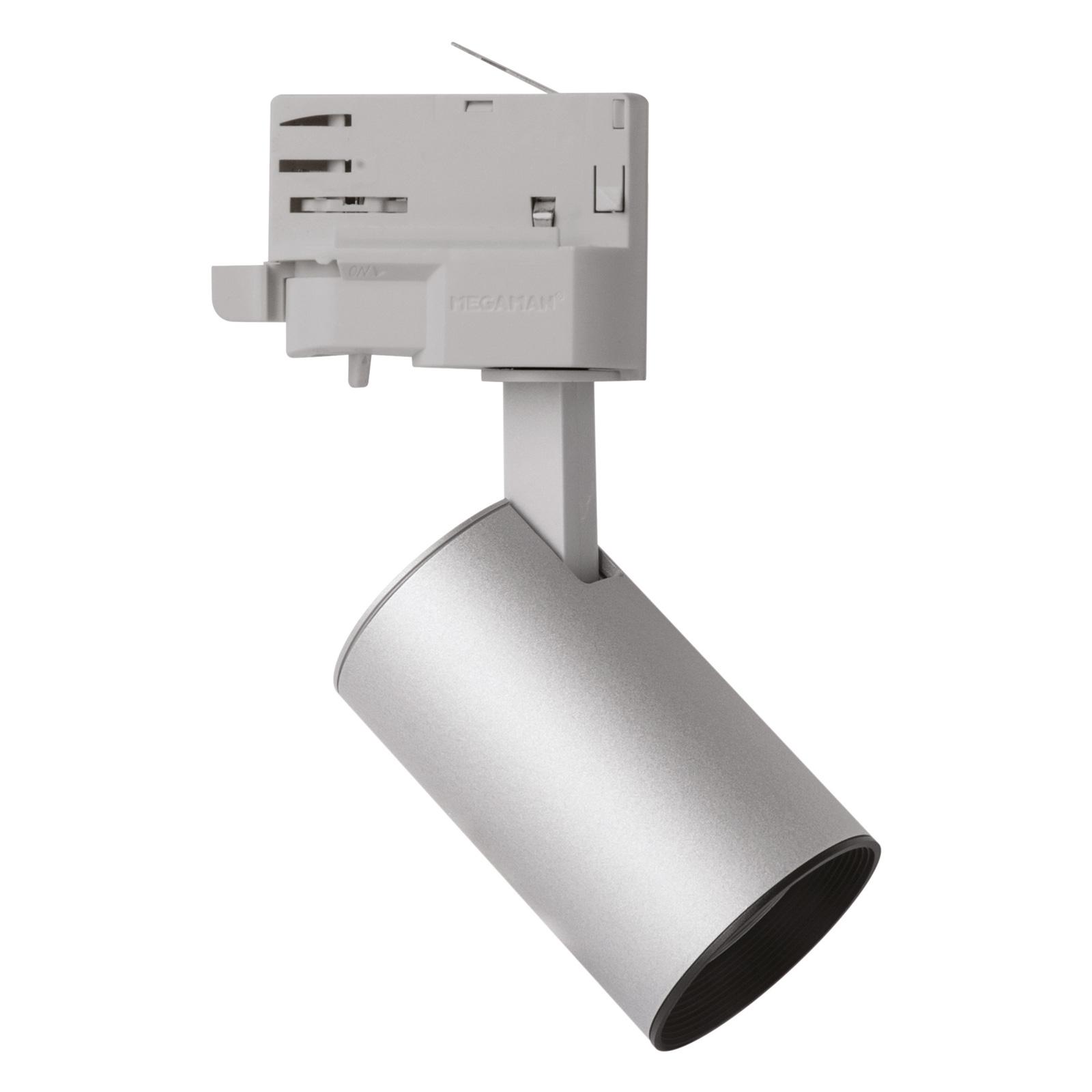LED-spotti MarcoMini 3-vaihekiskoon, hopea 4 000 K