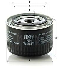 Öljynsuodatin MANN-FILTER W 914/4
