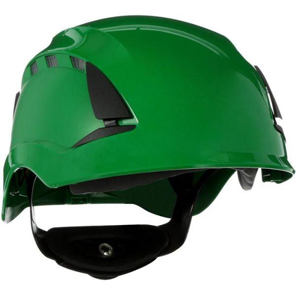 3M SecureFit X5504V Vernehjelm ventilert Grønn