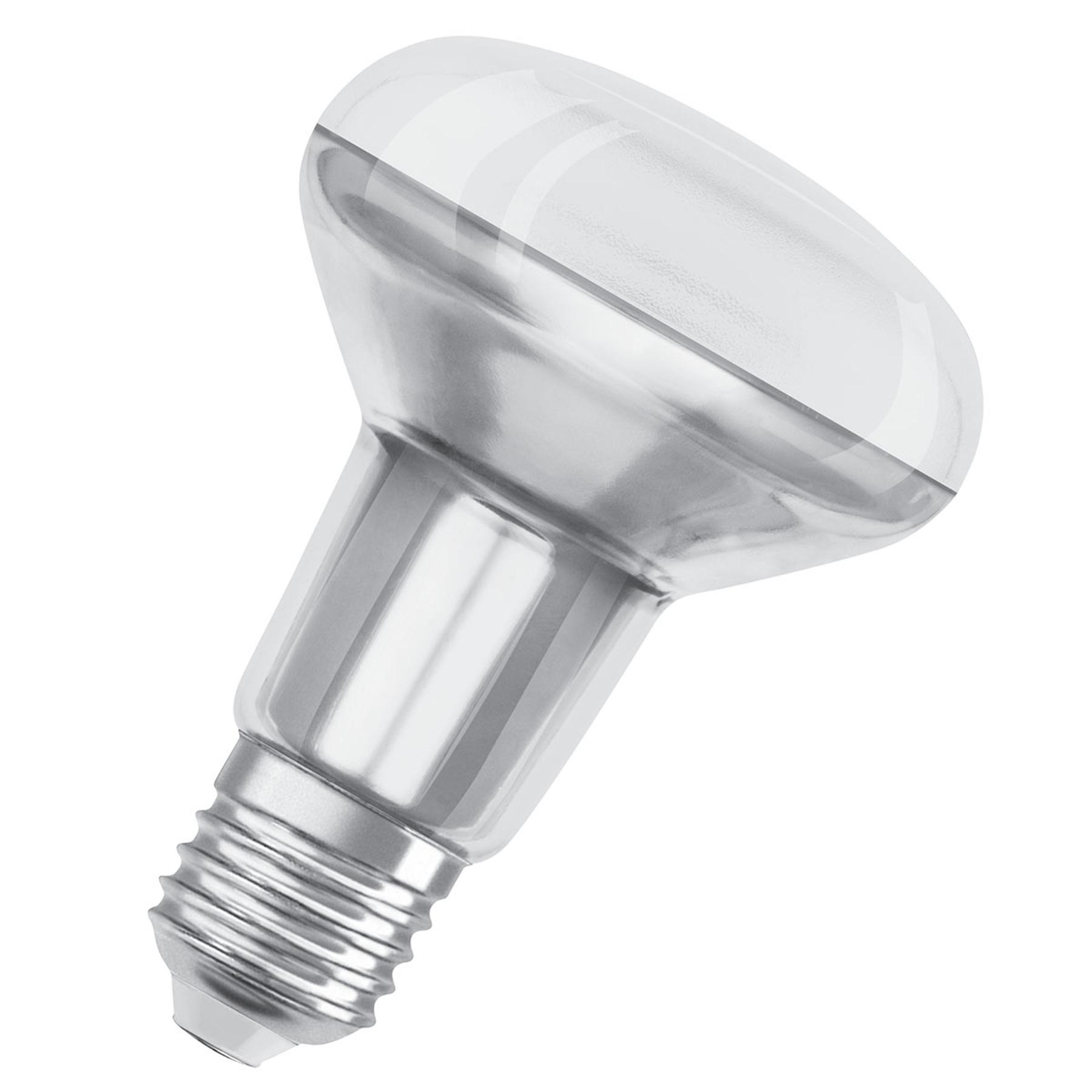 OSRAM-LED-heljastin E27 R80 5,9W 927 36° dim
