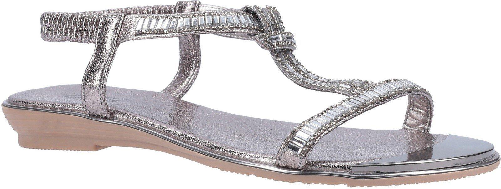 Divaz Women's Roxy Slip On Sandal Various Colours 30128 - Pewter 3