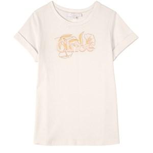 Chloé Logo Print T-shirt Vit 3 år