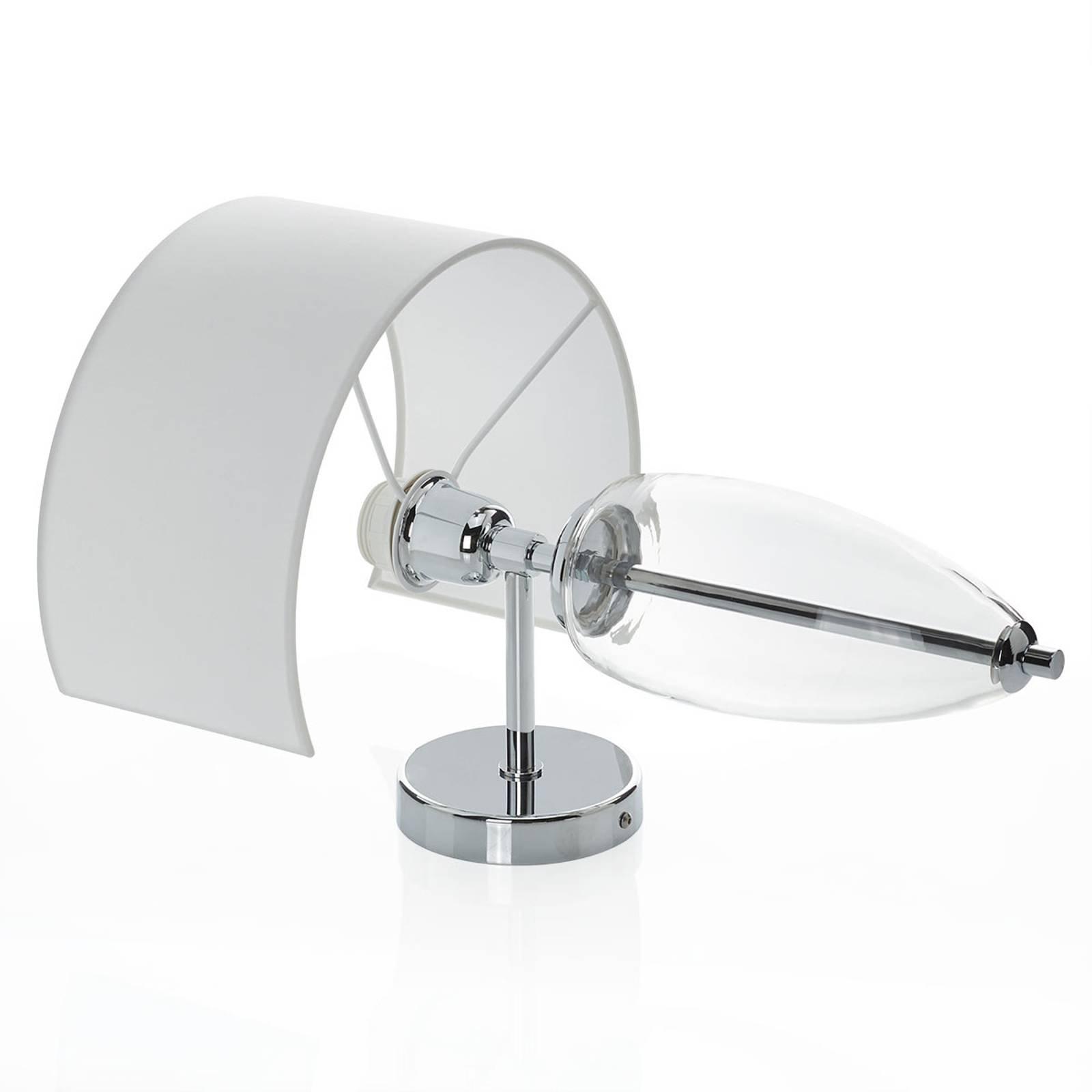 Vegglampe Show Ogiva med glasselementet klart