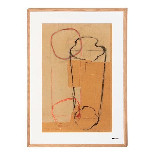 Iittala - Aalto Affisch Skiss 50x70 cm Brun