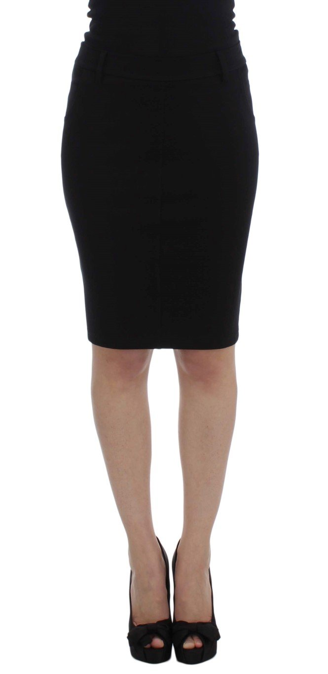 PLEIN SUD Women's Straight Pencil Skirt Black SIG30995 - IT48   XL