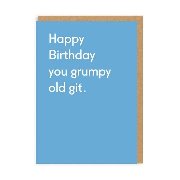 Grumpy Old Git Greeting Card