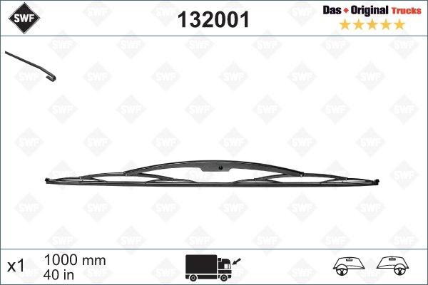 Torkarblad 1000mm Krokarm