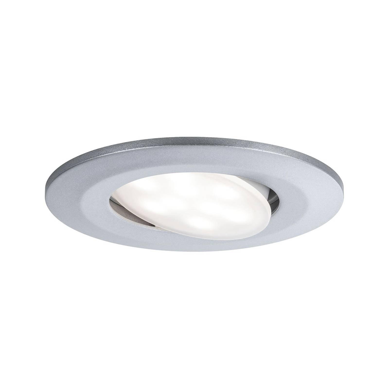 Paulmann utendørs LED-innfellingsspot Calla, krom