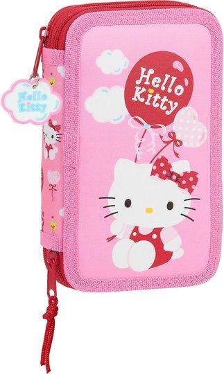 Hello Kitty Balloon Pennal Dobbel, Pink