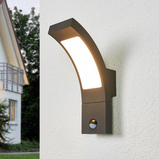 Sensor-utevegglampe Juvia med LED-lys