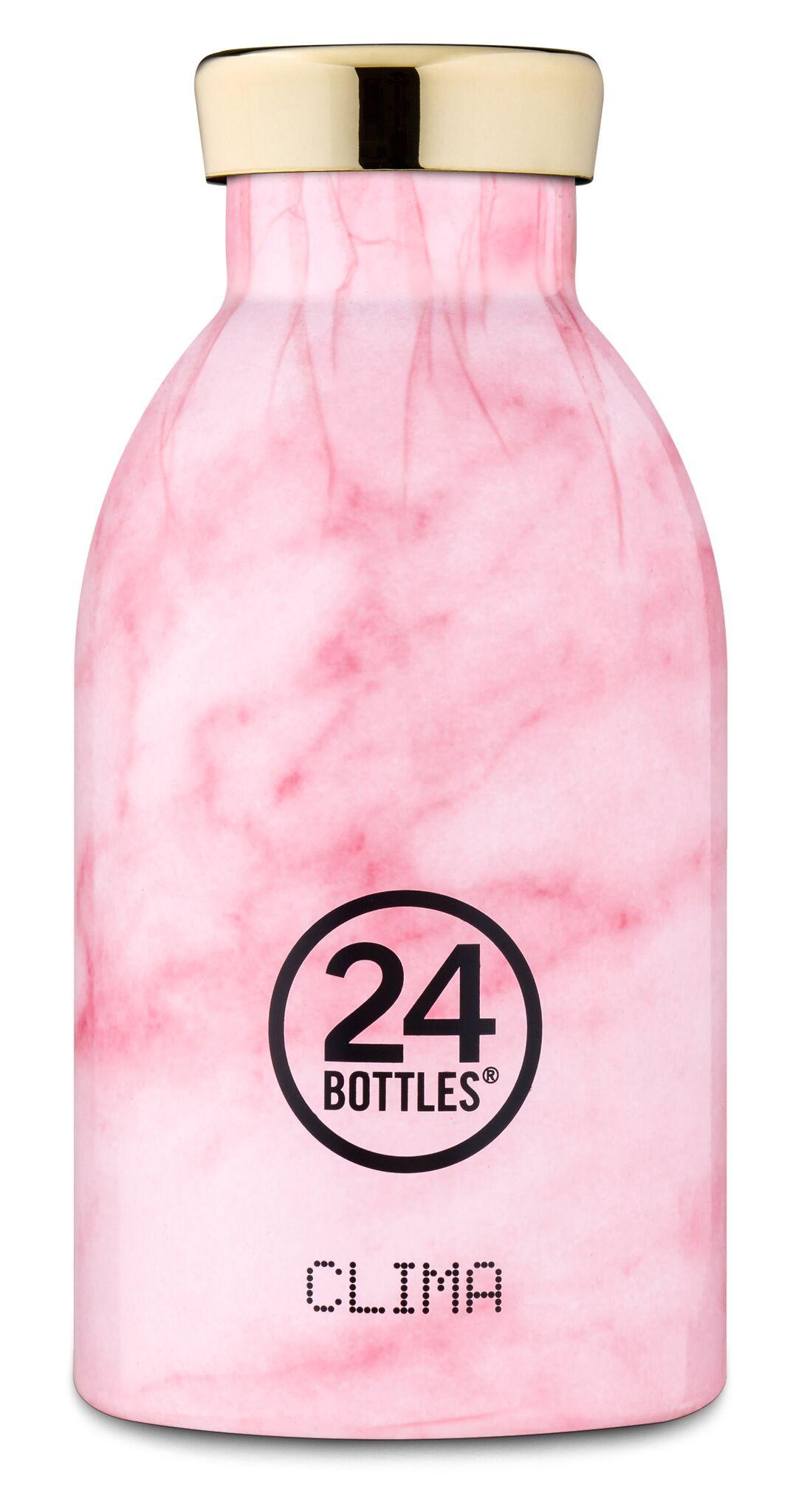 24 Bottles - Clima Bottle 0,33 L - Pink Marble