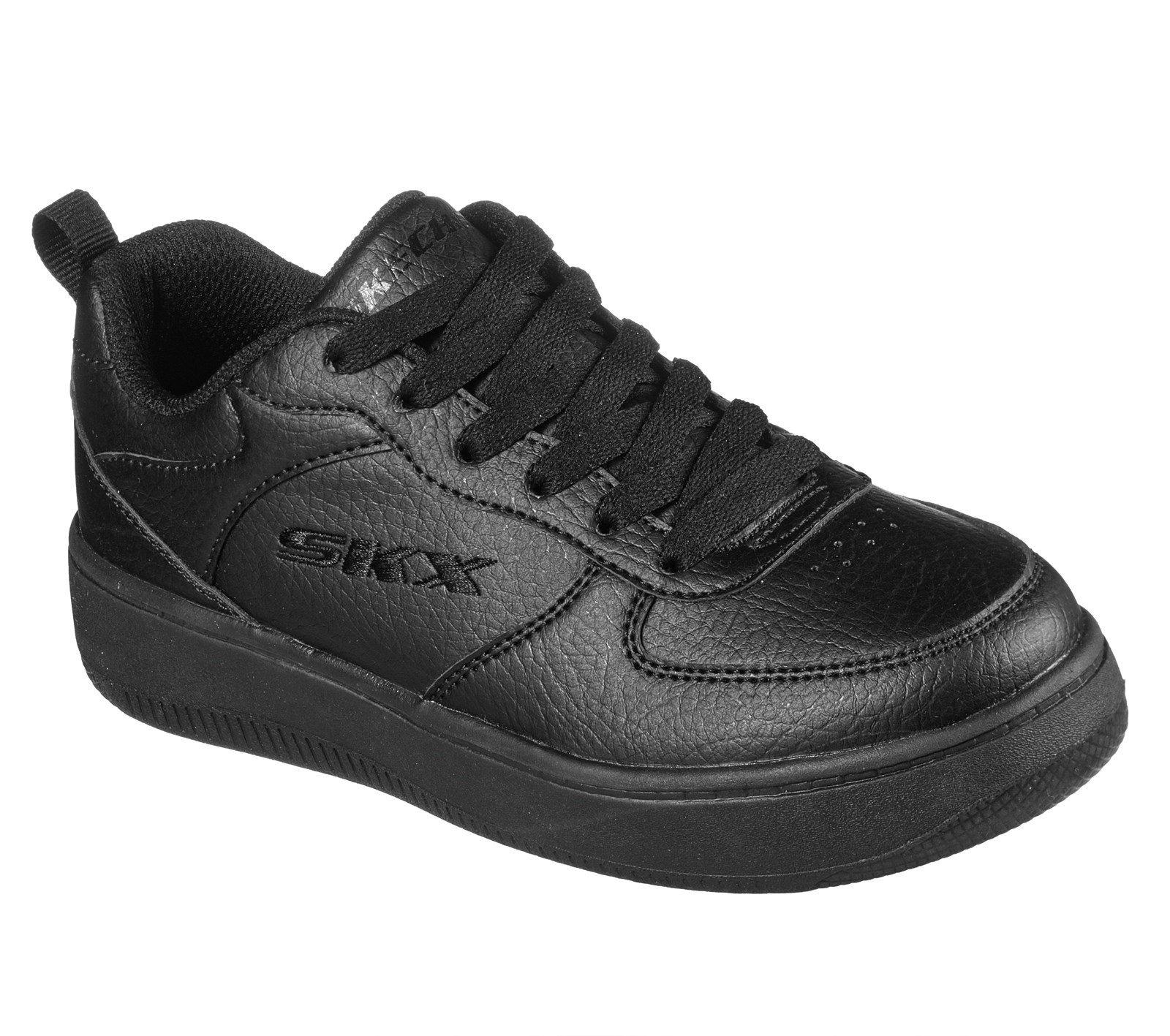 Skechers Kid's Sport Court 92 School Trainer Black 32519 - Black/Black 13