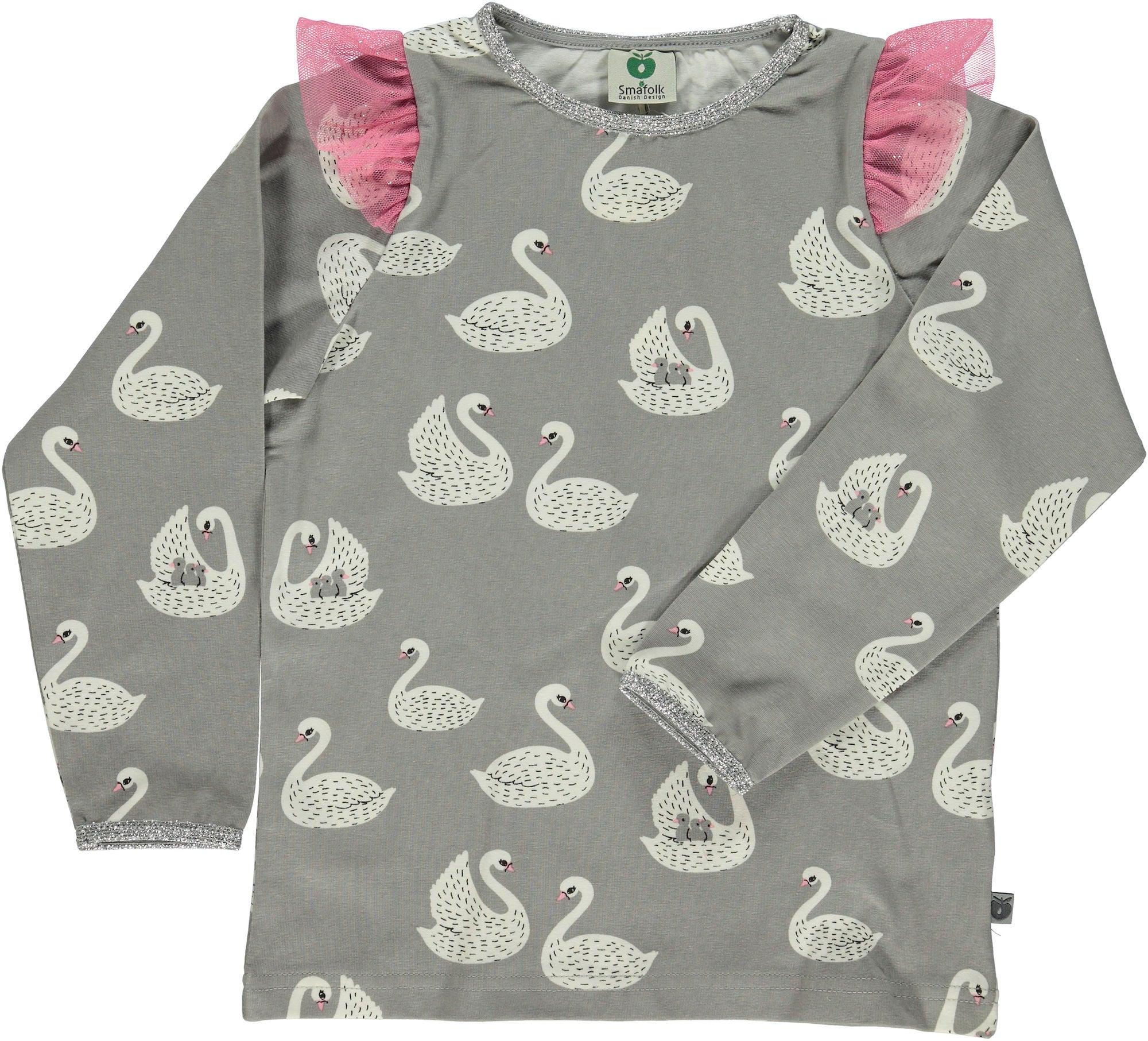 Småfolk T-Shirt, Sea Pink 1-2 år