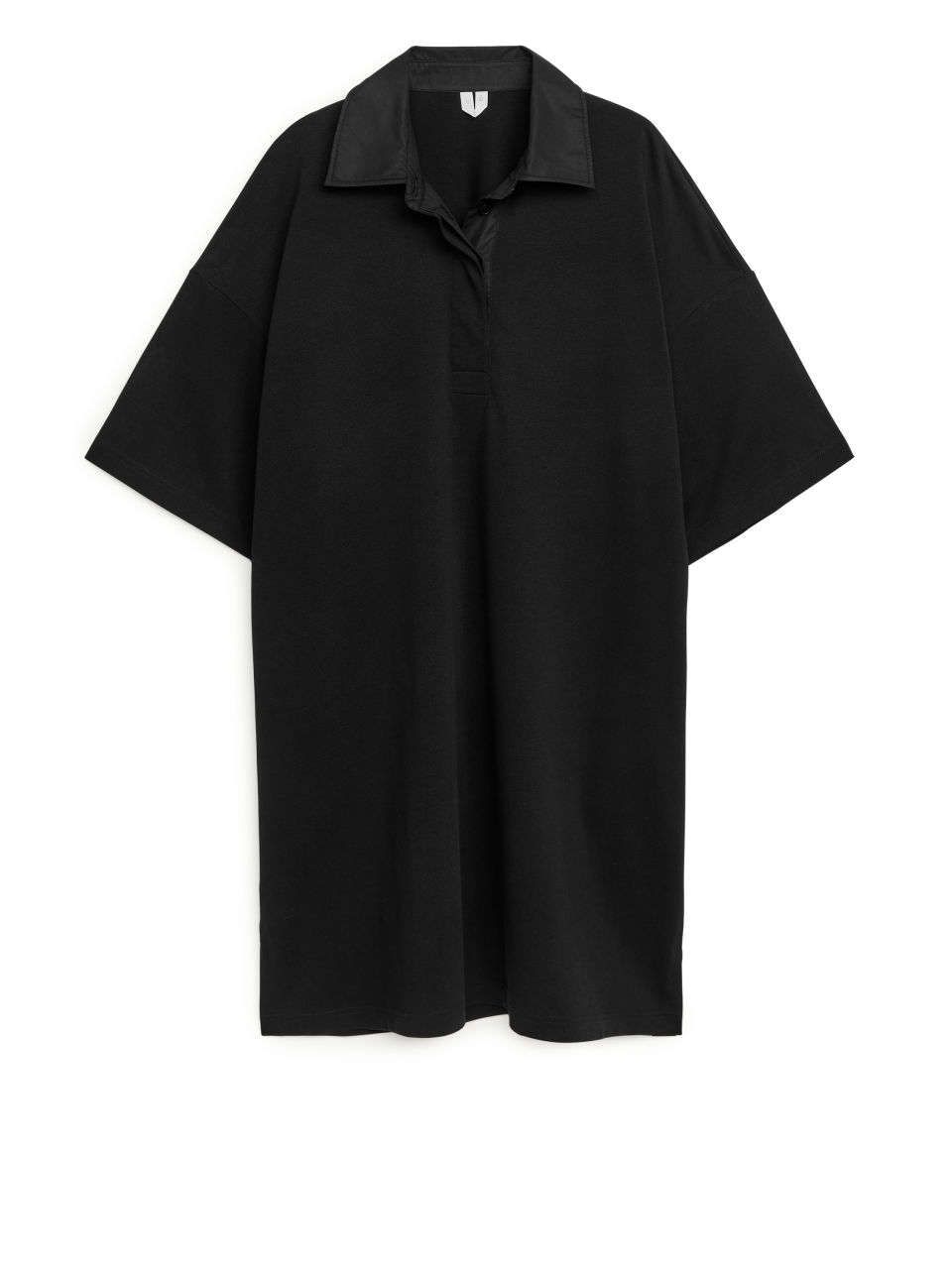 Oversized Rugby Dress - Black