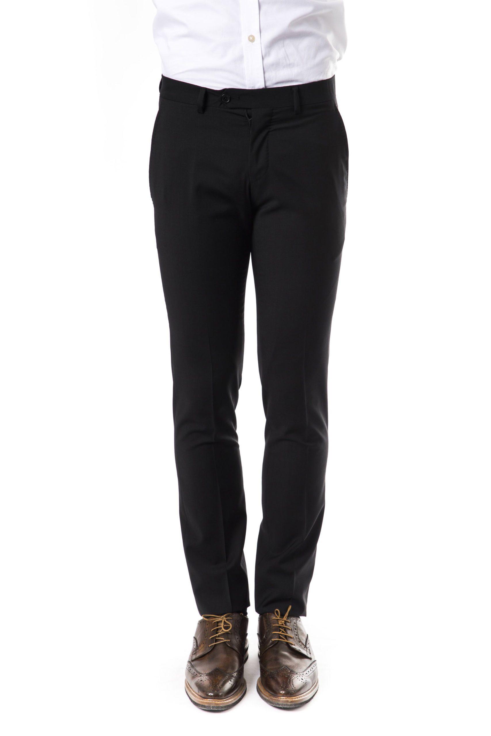 Uominitaliani Men's Trouser Black UO1394383 - IT50 | L