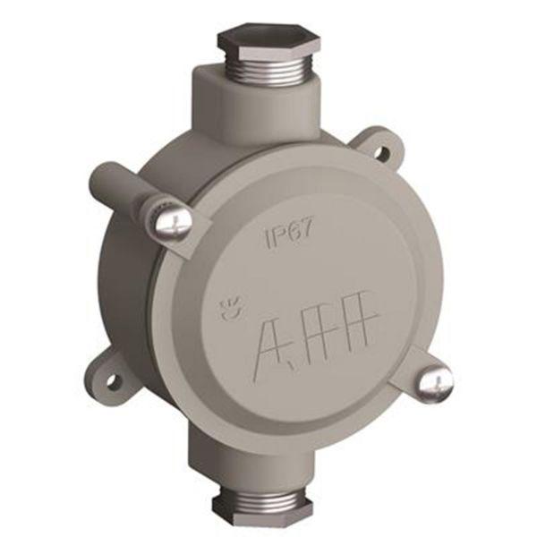 ABB 2CMA136541R1000 Kevytmetallikotelo alumiini, kierre 22,5 1 oikealle, 1 vasemmalle, 90 nm