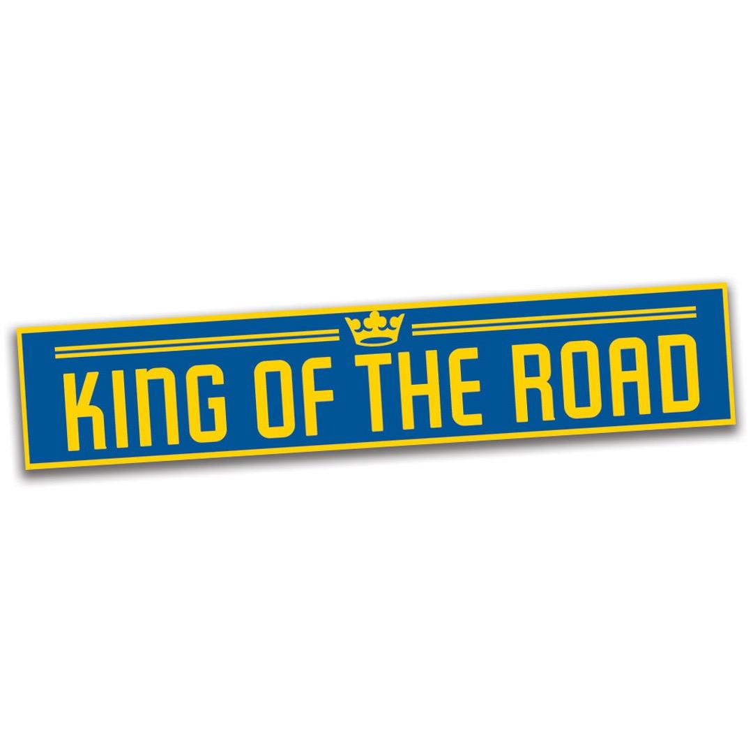 King of the road - Klisterdekal