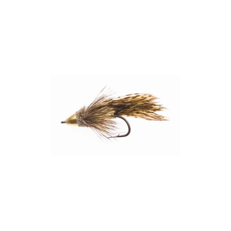 Muddler Minnow Cone Natural #10 Kjøp 12 fluer få gratis flueboks