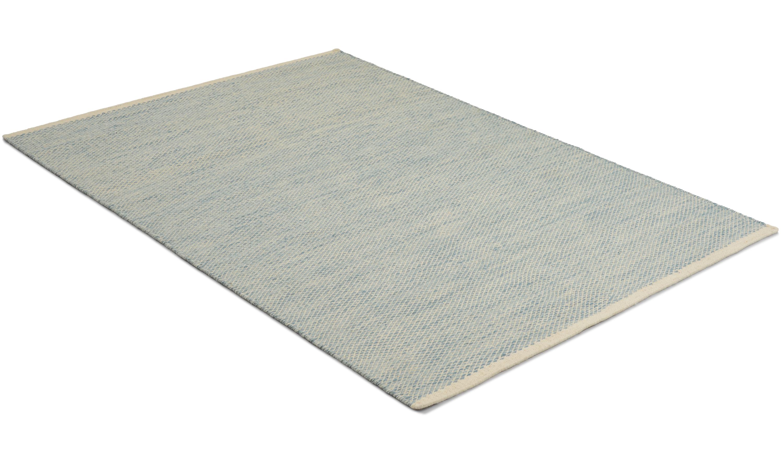 Jersey blå - håndvevd ullteppe