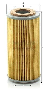 Öljynsuodatin MANN-FILTER H 804 t