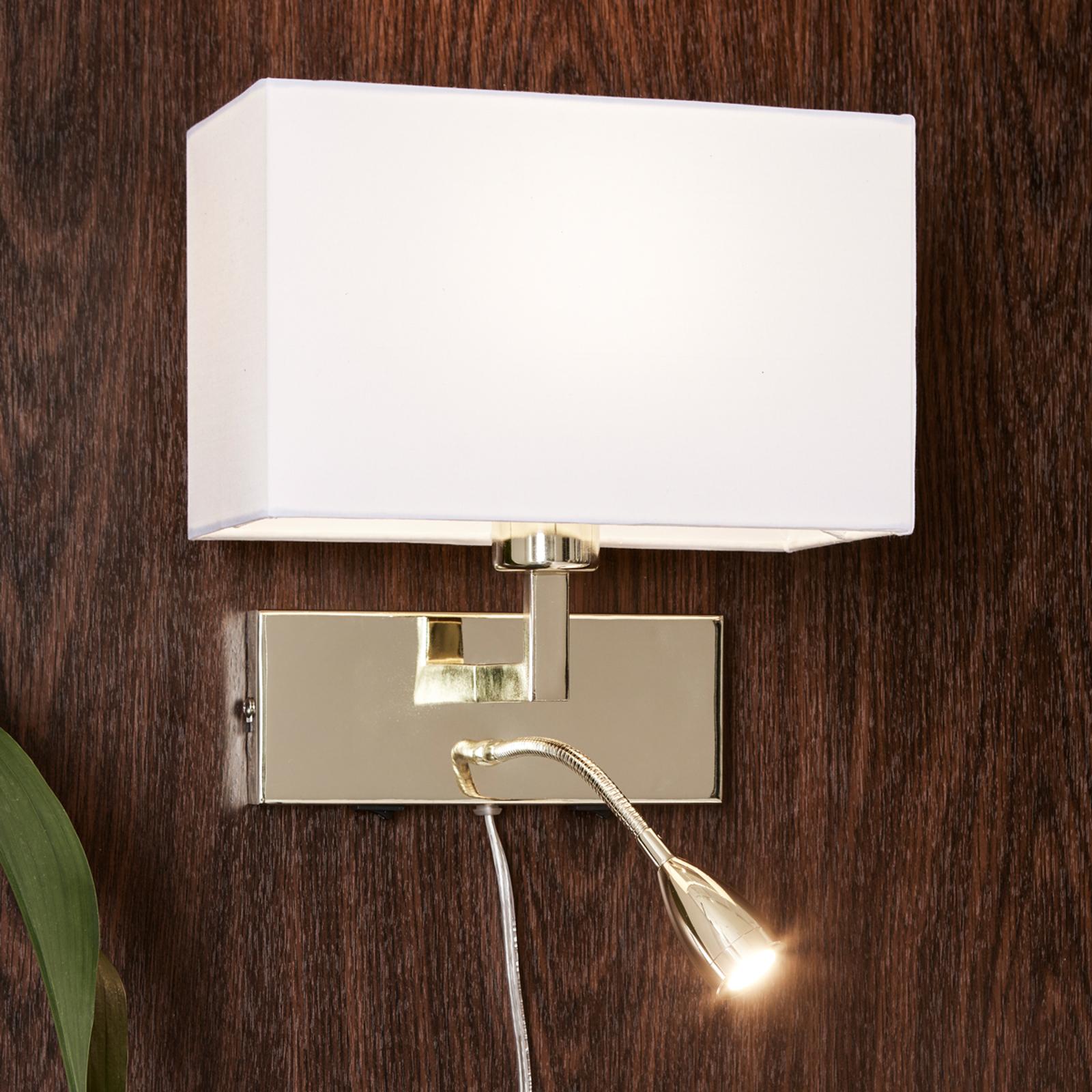 LED-lukuvalolla varustettu seinävalaisin Savoy