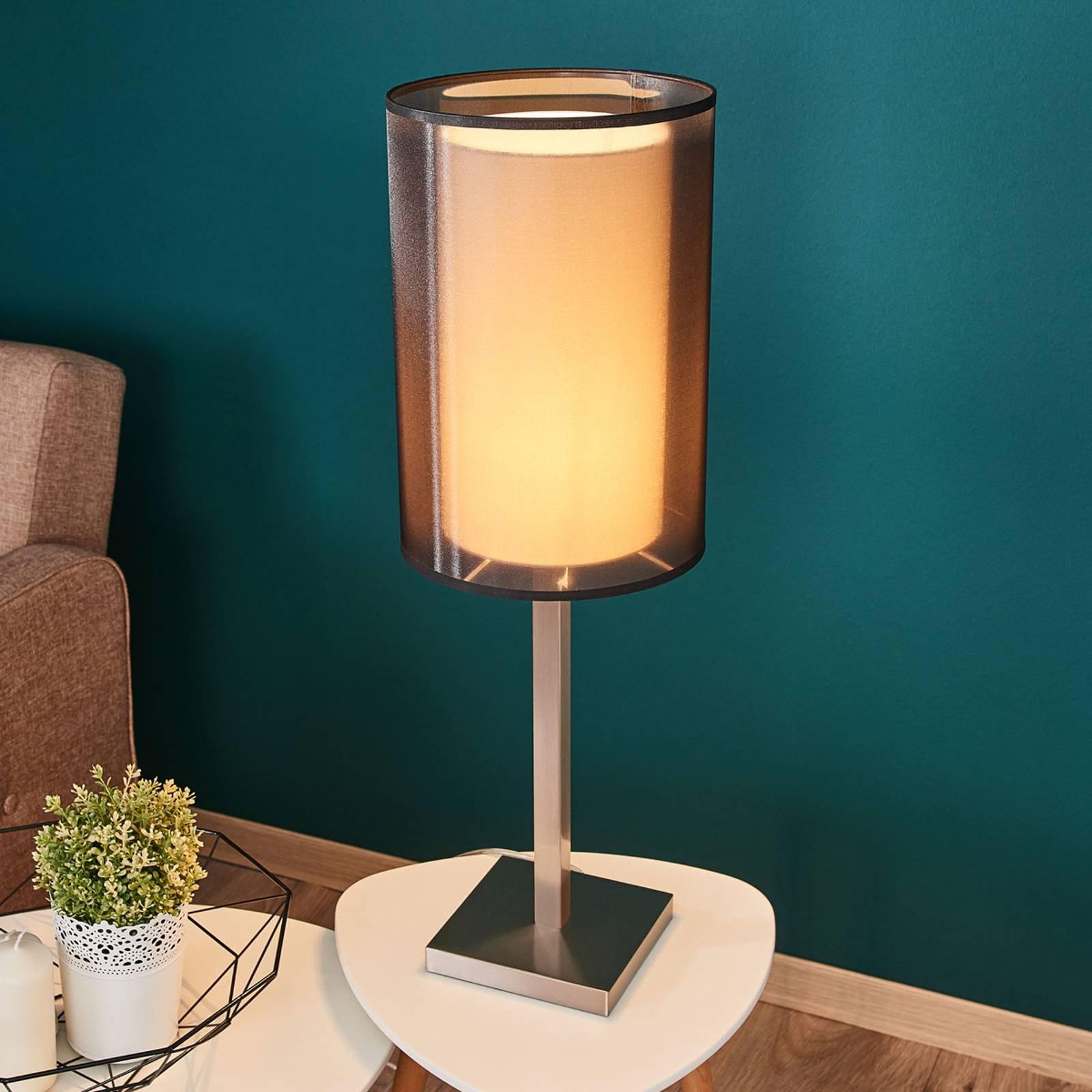 Bordlampe Quattro med organza-skjerm, høyde 71 cm