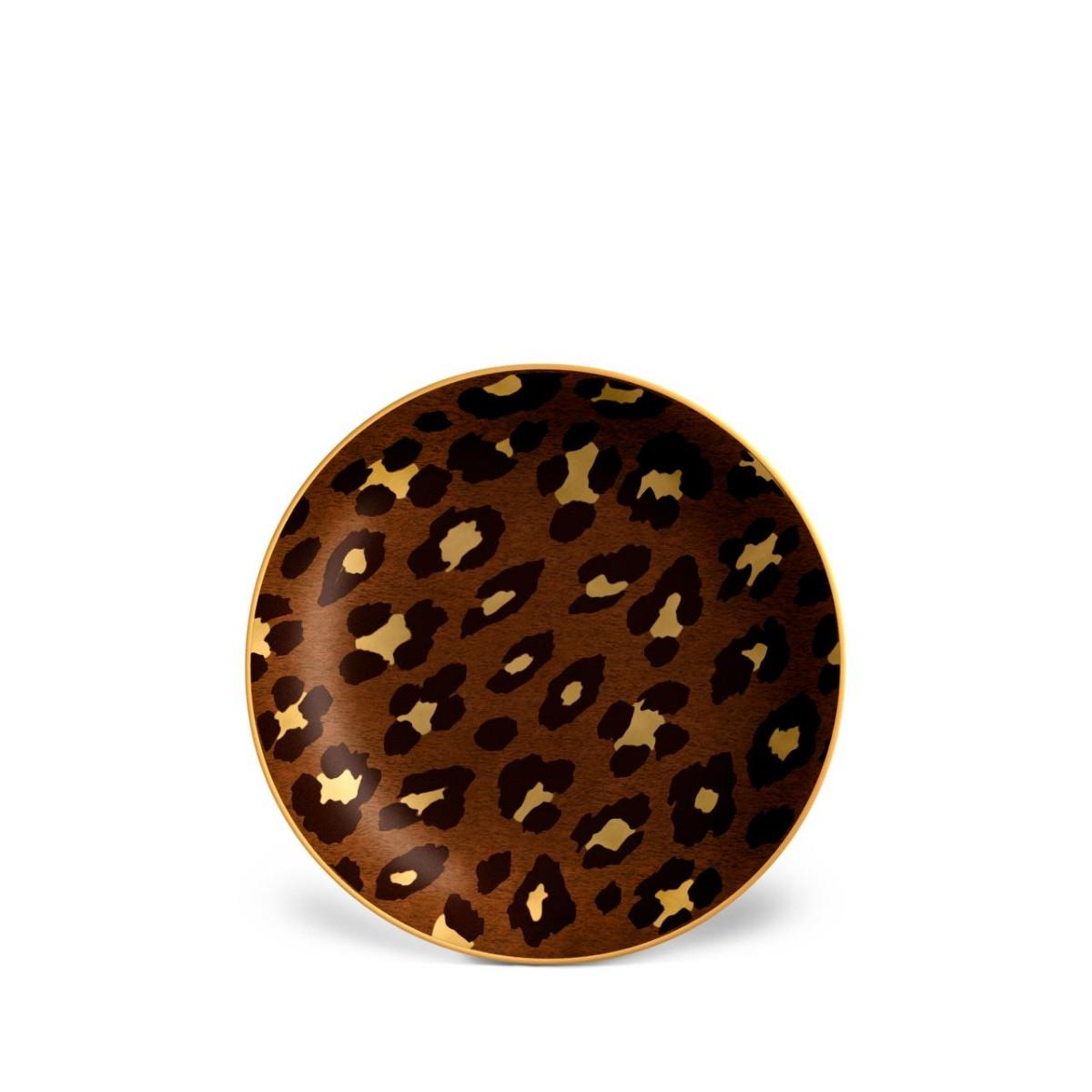 L'Objet I Leopard Canape Plates (Set of 4)