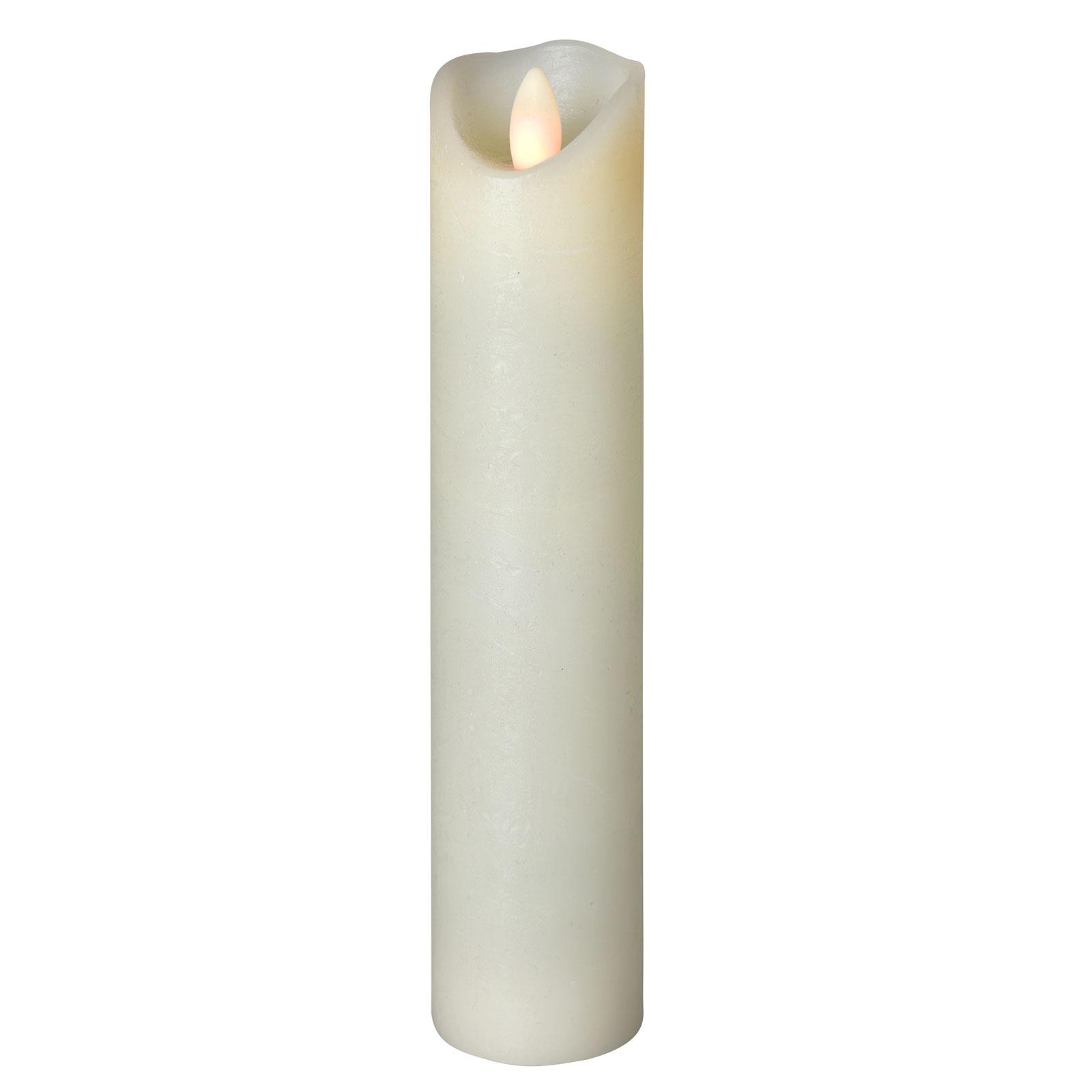 LED-kynttilä Shine, Ø 5 cm, norsunluu, 22,5 cm