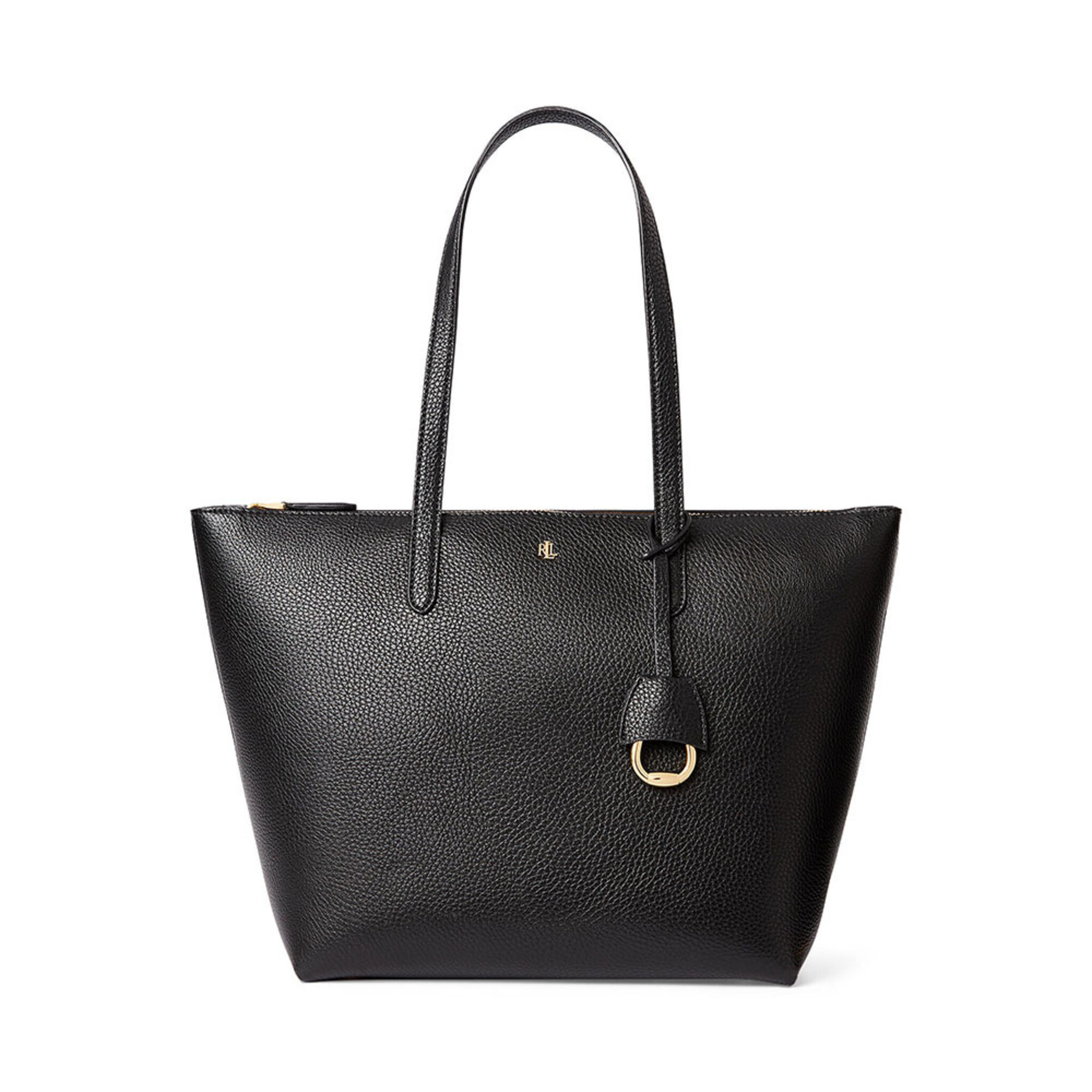 Faux-Leather Small Tote, OSZ