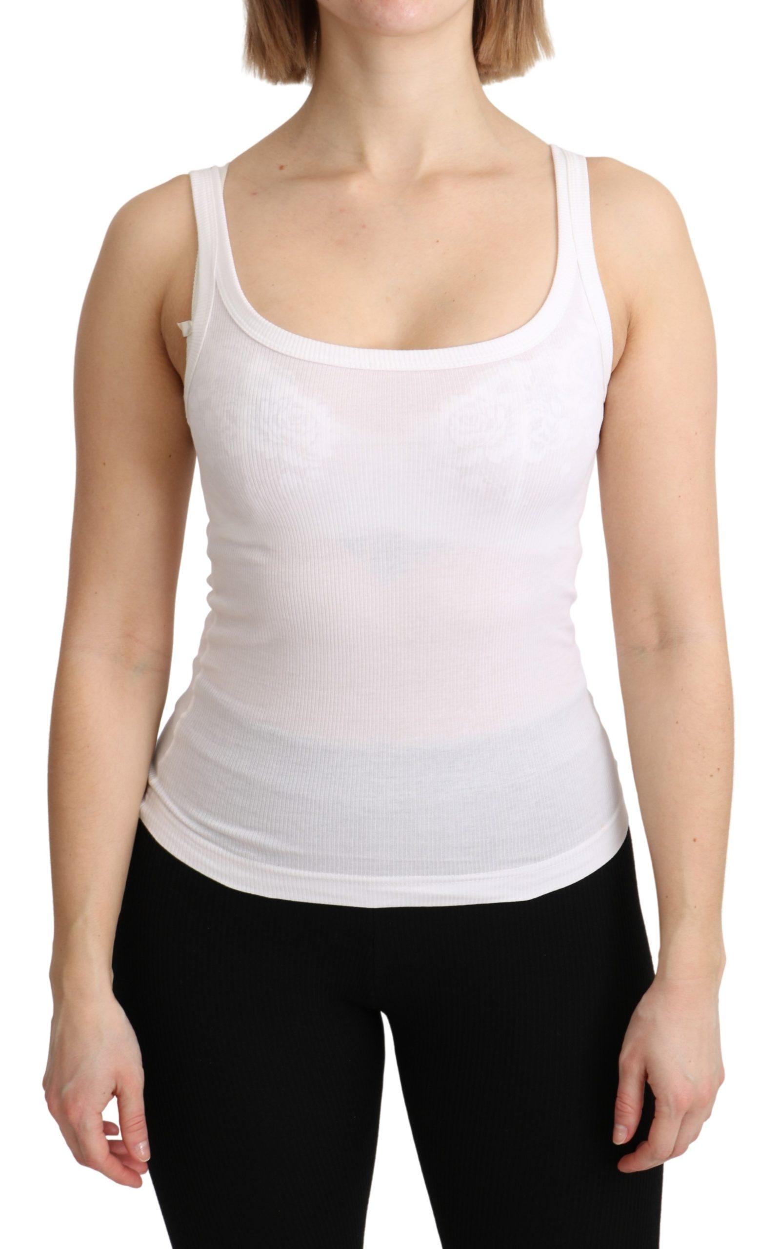 Dolce & Gabbana Women's Sleeveless Cotton Top White TSH4897 - IT36 | XS