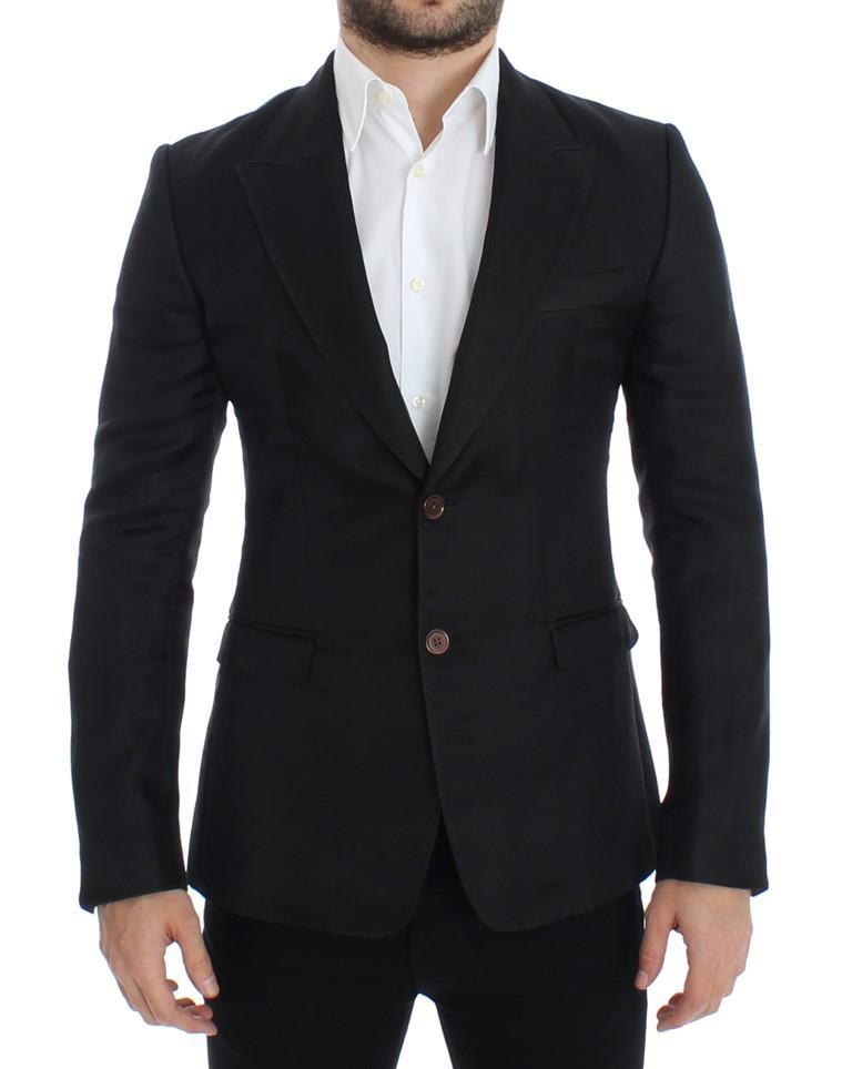 Dolce & Gabbana Men's Silk Slim Fit Blazer Black SIG12299 - IT48   M