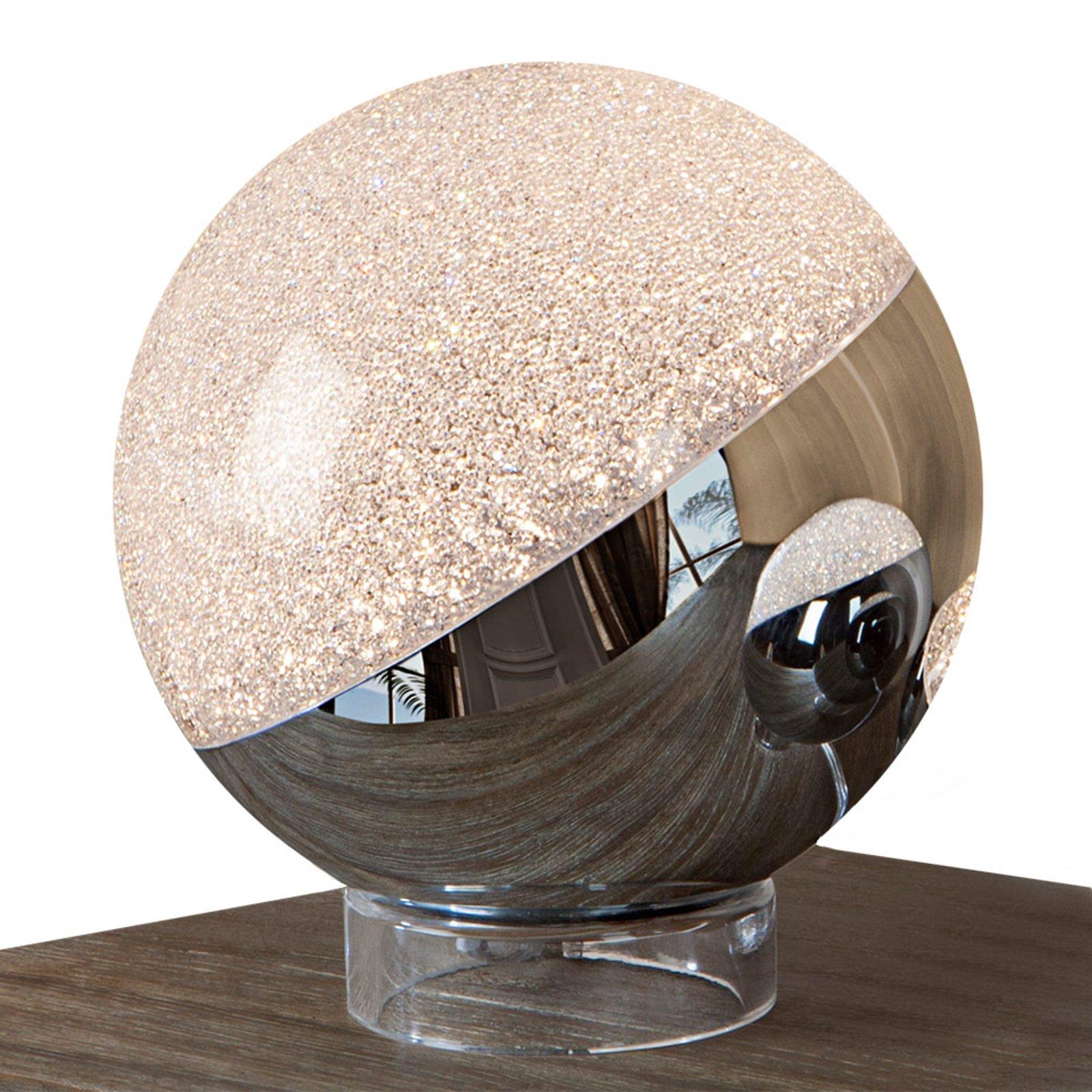 LED-bordlampe Sphere, krom, Ø 20 cm