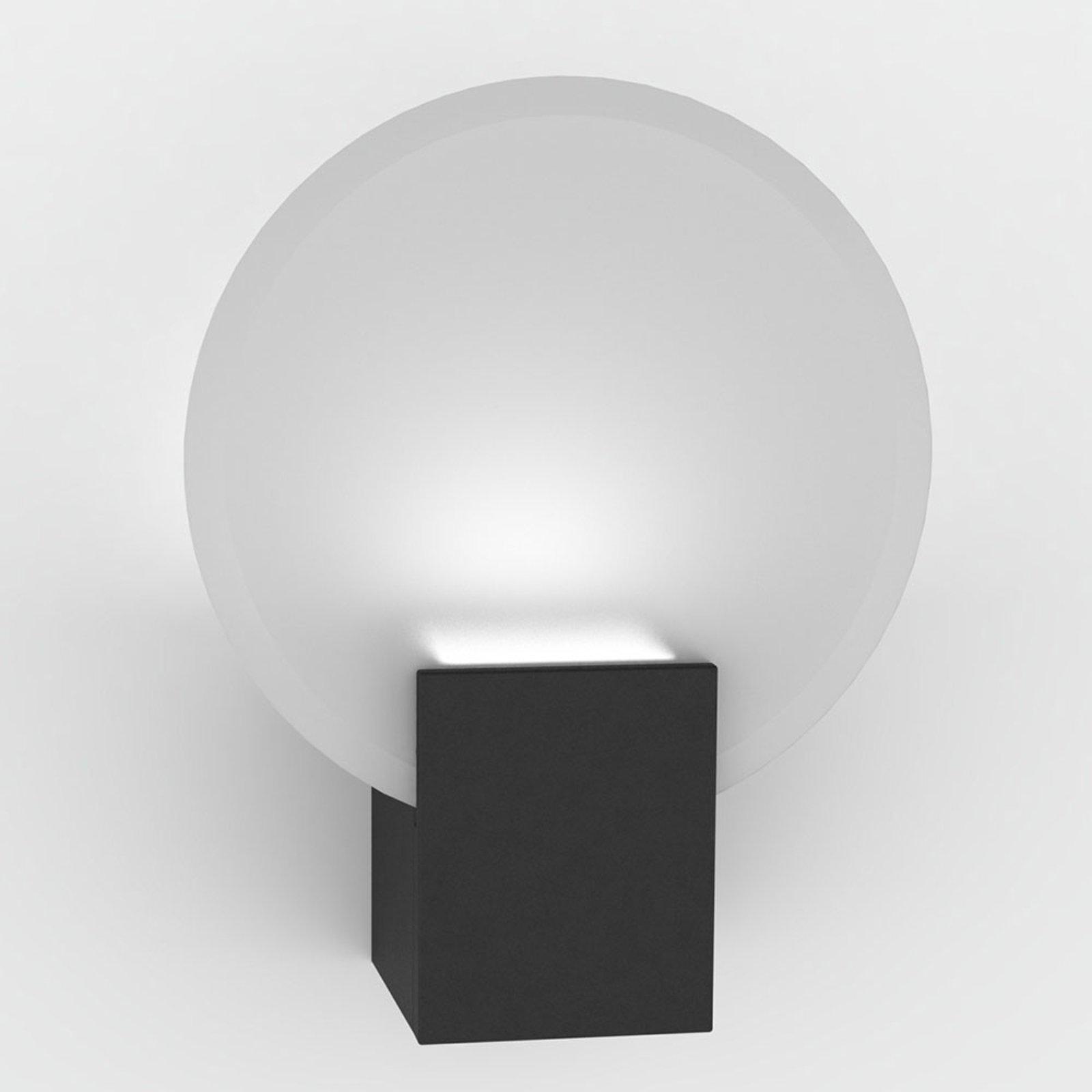 LED-vegglampe Hester, IP44, svart
